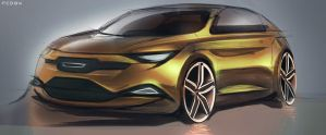Car design Sketch FCD94 by FCD94