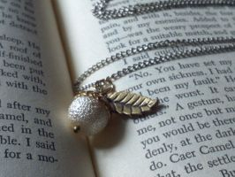Winter Frost Acorn necklace by QueenofJackals