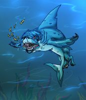 Mutant Zoo Pug Shark by JazylH