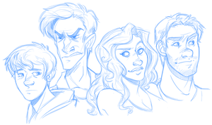Indemnis lineup (WIP) by pai-draws