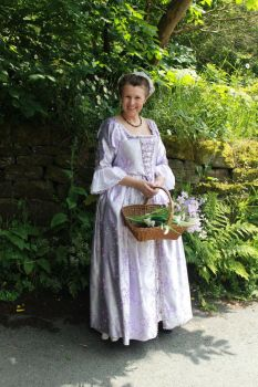 Earyl 18thc style Brocade gown by Abigial709b