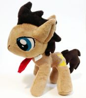 Dr. Whooves custom plush by Kitamon