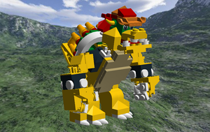 Lego Digital Designer: Bowser, Take two by Cyberguy64
