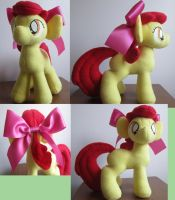 Apple Bloom plushie by mylittlezombie