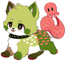 Watermelon Ghoul Hound by Elix-e