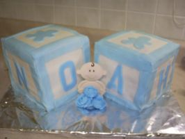 Baby Block Cake by Robison300