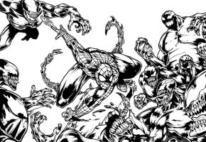 Symbiote Smackdown by chimeraic