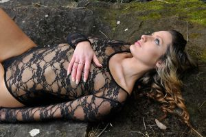 Zoe - black lace reclining 1 by wildplaces