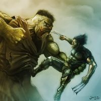 Hulk Vs Wolfy by Joey-B