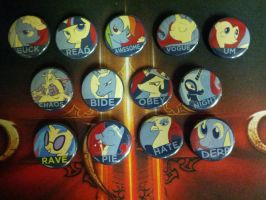 MLP: FiM - Vote Candidates Buttons by Makksim