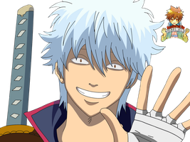 Baka Gintoki Render by Sir7aMaNy