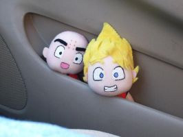 Goku and Krillin HIde and seek by CuteGio