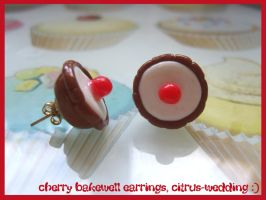 cherry bakewell earrings by citruscouture