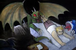 Curse of the Nightmare Monster by LaEmperatrizMariana