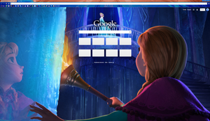 Meet the Snow Queen - Chrome Theme by Tumthe3