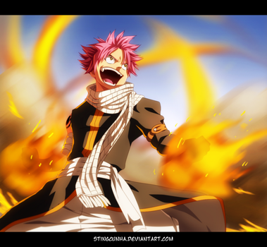 Fairy Tail 430 - Natsu on fire! by StingCunha