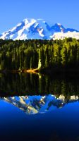 Reflection of a Mountain by videodude1961