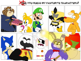 Can YOU guess my Fave Characters 1 by AshleyWolf259