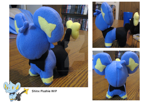 Shinx Plush WIP by DancesofShadows