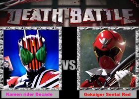 Decade vs Gokai Red by skrallhunter