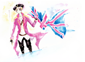 Pirate England Watercolor by kyunyo