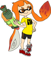 Non-Shaded Inkling Girl by Squideous