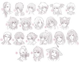 Headshot Sketches Giveaway by lily-kat