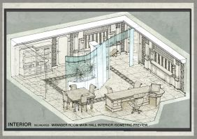 manager room pencil isometric by essamdesigns