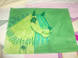 st paddy's day wolf by kassieskatergirl98
