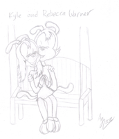 :WIP: Kyle and Rebecca (Sketch) by Agetian