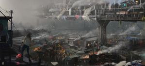 The fog and the city by Seven-teenth