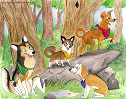 WahyaWolf's Pack by Coloran