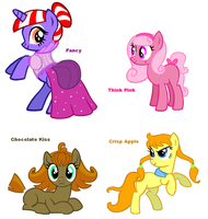 Themed adoptables 1-4 (CLOSED) by BronyBase