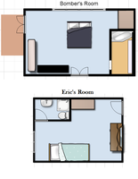 Bomber's and Eric's Room Floor Plans by anne-t-cats