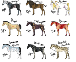 Horse Adoptables 4 (CLOSED) by Grim-Jack-Adopts