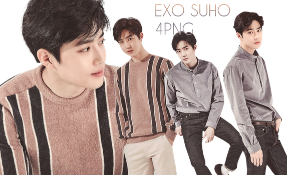 EXO Suho PNG Pack {Season Greetings 2017} by kamjong-kai