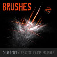 Fractal Flame Cs4 Brushes by blitherjust