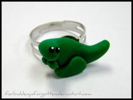 ::Cute Dino Ring:: by Forbiddenynforgotten