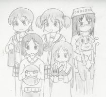 My First Nichijou Fanart! by joelmarc2008