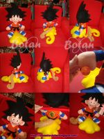 Goku plush version by Momoiro-Botan