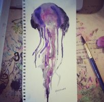 Jellyfish galaxy by lexiibabii01