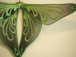 Green Drops Wings by KimsButterflyGarden