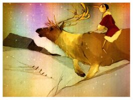 take me home, reindeer by Russalad