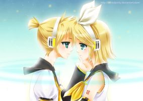 RIN and LEN Vocaloid by tickledpinky