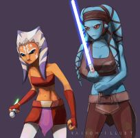 Fierce alien girls by Raikoh-illust