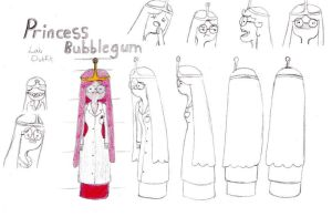 Princess Bubblegum Labcoat Model sheet by Novum-Semita