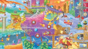 Sonic 2 Fresco by Orioto