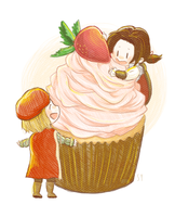 Strawberry Cupcake! by arts-sy