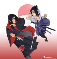 Itachi Vs Sasuke by TheGameJC