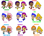 Bubble Guppies Color Coded Couples by Blueelephant7